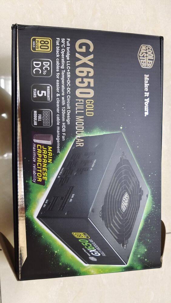 酷冷至尊(CoolerMaster)额定650WGX650金牌全模组电源(支持双CPU主板/日系电容/50℃无损输出/五年质保)