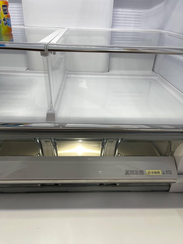 日立(HITACHI)R-HW540JC日本原装进口多门冰520升真空保鲜双循环自动制冰电冰箱水晶白色