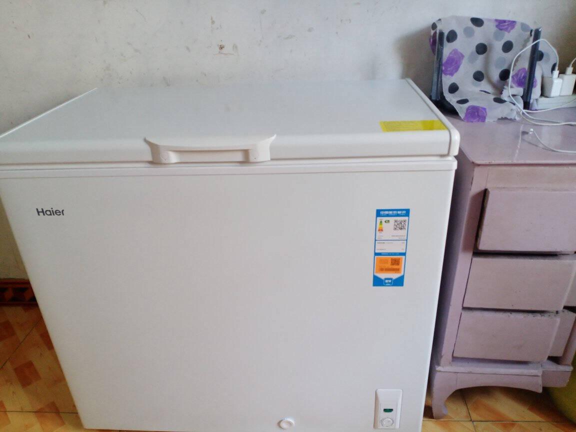 海尔冰柜家用203升无需除霜一级能效单温大冷柜可冻280斤肉类