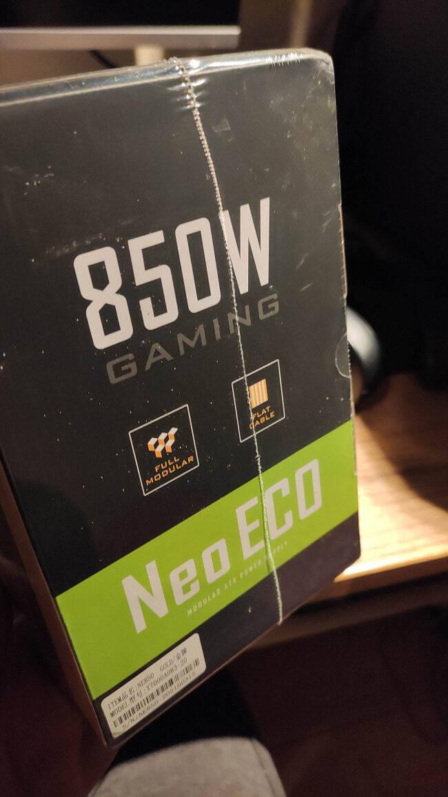 安钛克AntecNE850金牌全模组/7年换新/台式机电脑主机机箱电源850W(双8pin/全日系电容/无声静音)
