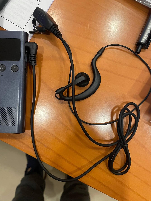 好力达Holyda用于小米米家对讲机1S1代2代耳机通用小米户外对讲机空气导管极峰耳机入耳式耳挂式耳麦线