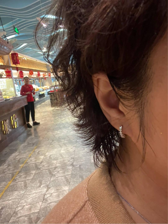 喜钻闪耀白18K金钻石耳环/钻石耳钉求婚结婚钻石耳钉白18K金25分