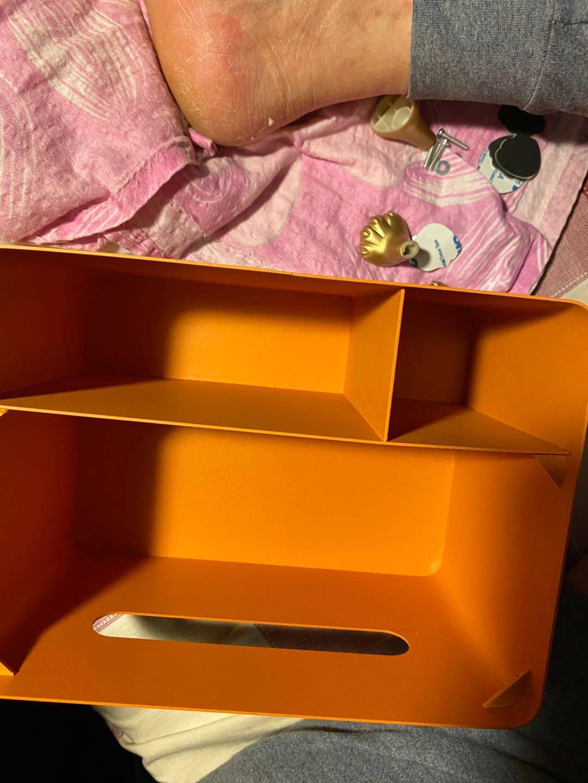 【空之喵喵】多功能纸巾盒北欧轻奢创意抽纸盒遥控器收纳纸抽盒橙色/草绿盖/多功能纸巾盒