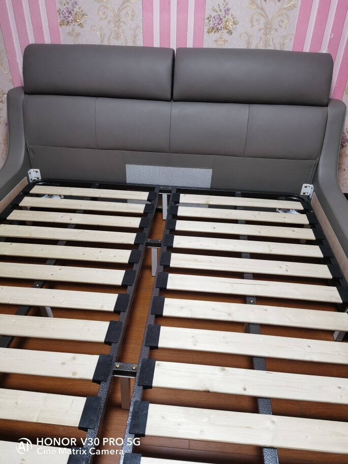 【现货速发】吉米乐床意式轻奢真皮床极简1.8米双人床主卧婚床真皮床气动结构【可选1.5或1.8米】