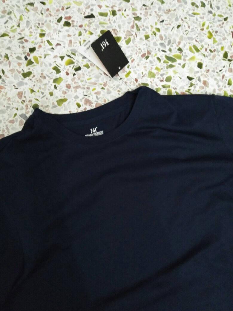 361度运动T恤男2021春季新款短袖常规情侣款青少年休闲男女上衣圆领透气衣服基础黑(男款)XL