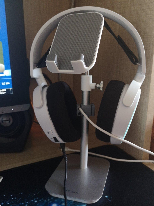 赛睿寒冰5白色游戏耳机,送男朋友玩游戏礼物