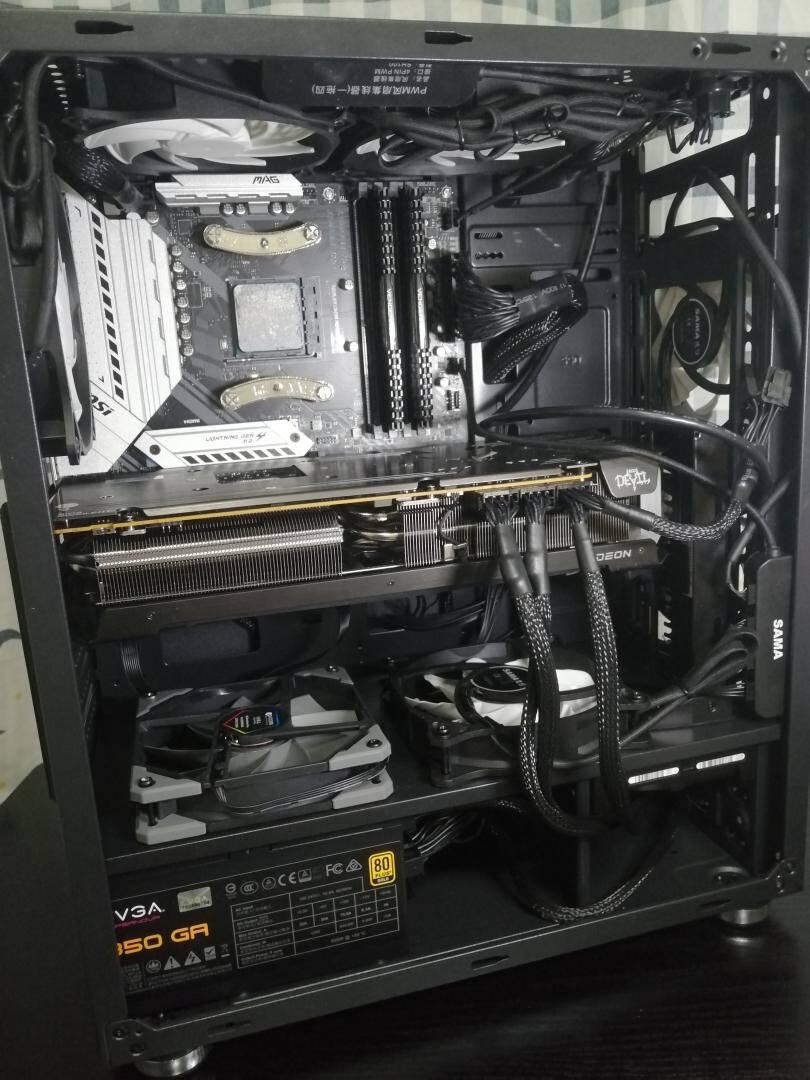 撼讯RadeonRX6700XT红魔12GAMD7nm显卡+AMD锐龙55600X盒装CPU+EVGAGA750W金牌全模组电源套装