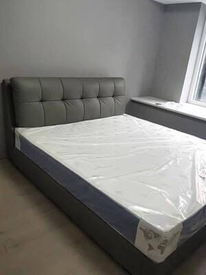 【现货闪发】中派床头层牛皮真皮床现代简约软包双人床主卧气动储物欧式1.5*2米/1.8*2米标准床【尺寸备注】