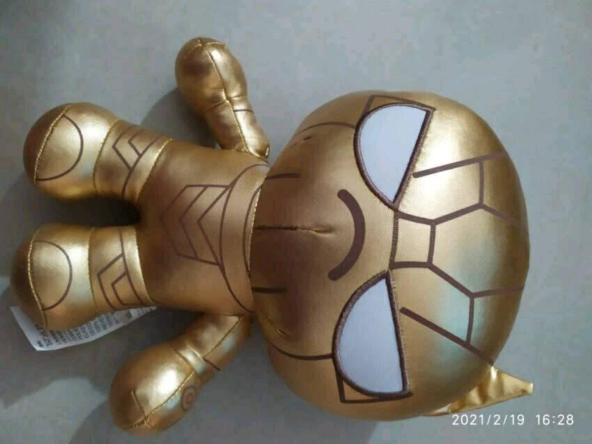 名创优品(MINISO)漫威金色立体摆件烫金公仔钢铁侠