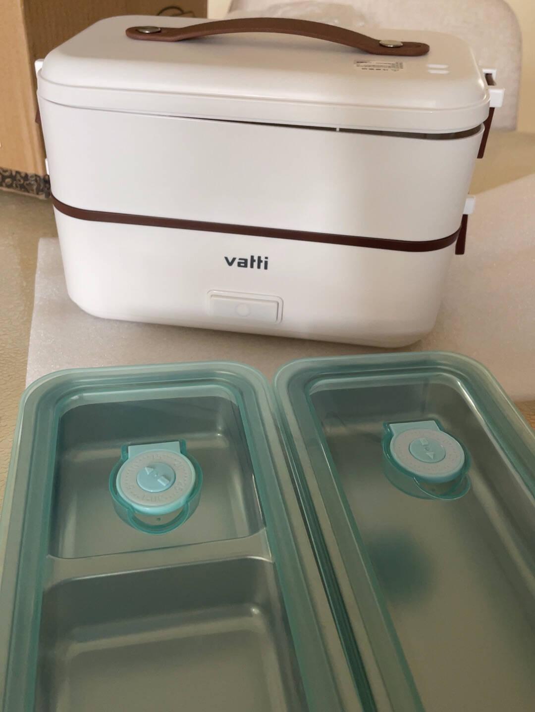 华帝(VATTI)电热饭盒保温加热蒸煮自热便餐当盒上班族便携可插电带饭神器绿色双层