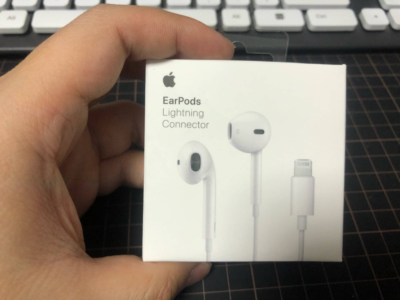 Apple苹果耳机原装有线耳机iPhone12ProMax手机耳机入耳式11pro/8P7P扁头通用lightning有线耳机