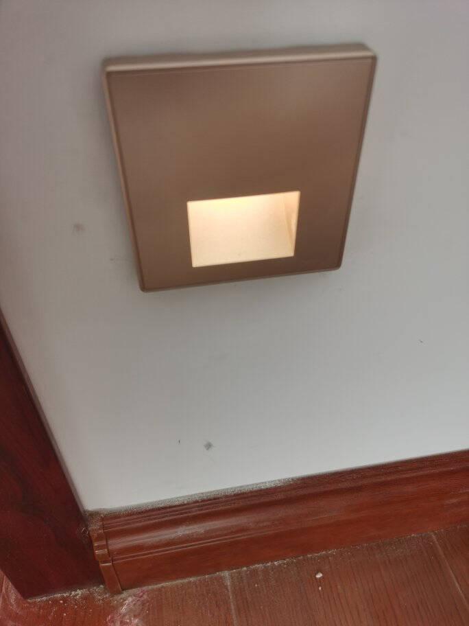 欧普人体感应地脚灯86型嵌入式智能led小夜灯过道楼道壁灯走廊灯暖黄光【红外感应款】地脚灯-白色