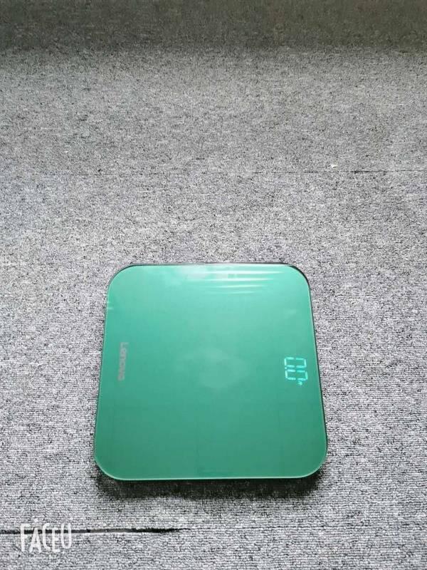 联想电子秤精准称重电子秤人体智能秤充电健康体重计家用体重秤USB充电款玫瑰金