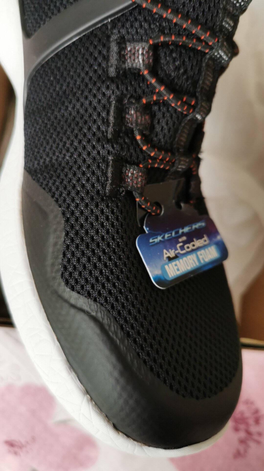 Skechers斯凯奇男鞋橡筋一脚套运动鞋舒适透气休闲鞋666082NVY海军蓝色42