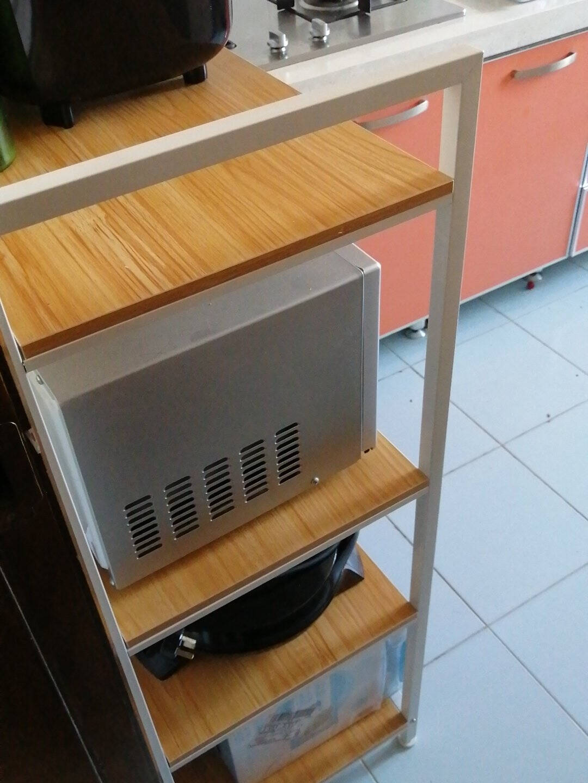 佳佰置物架厨房置物架加长五层微波炉架货架收纳架整理架家用储物架花架