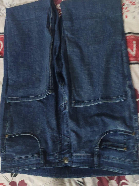 吉普JEEP牛仔裤男舒适棉质商务男士休闲中腰直筒宽松牛仔长裤J58734码2尺6