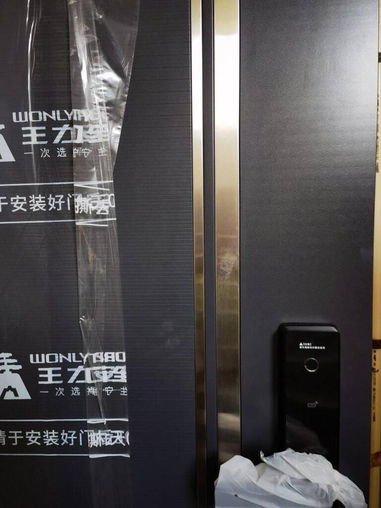 王力防盗门甲级安全大门进户门入户门子母门CL38智能锁门可配智能锁单门指纹锁Z201-APP【开向可定制】