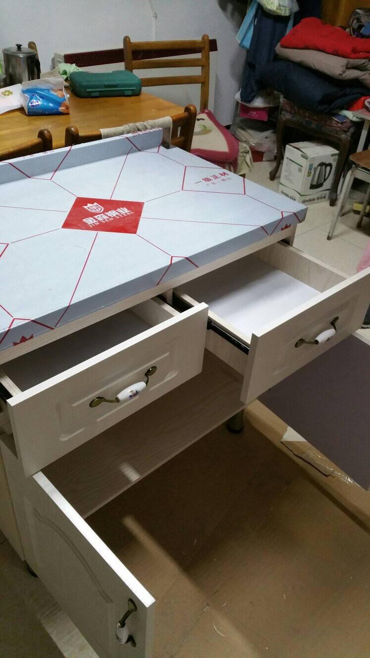 简易厨柜济型家用不锈钢灶台柜厨房整体组合装洗菜碗柜简约橱柜80cm灶台