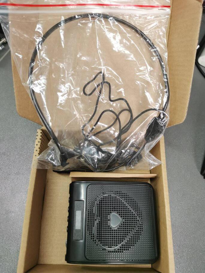 凯浮蛙(KFW)M1便携扩音器小蜜蜂教学专用教师导游扩音器耳麦喇叭小音箱扬声器播放器黑色