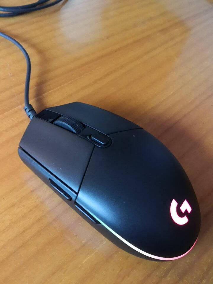 罗技(G)G102游戏鼠标8000DPIRGB鼠标宏编程英雄联盟APEX赛博朋克吃鸡鼠标G102黑色(二代流光)