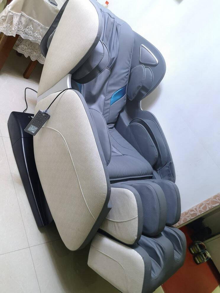 海尔(Haier)按摩椅家用全身豪华零重力全自动多功能电动按摩沙发椅子3D智能太空舱H3-102蓝色L