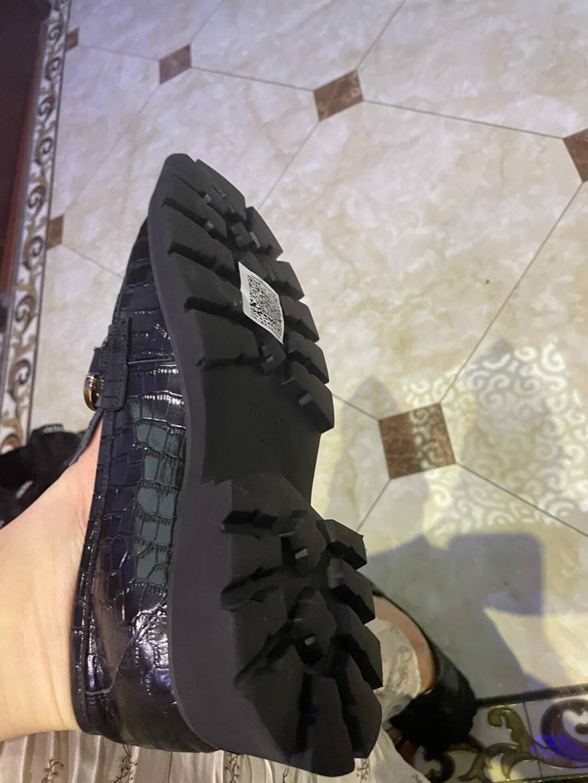 思加图2021春季新品厚底英伦风jk鞋皮鞋乐福鞋女鞋A2801AA1黑色37