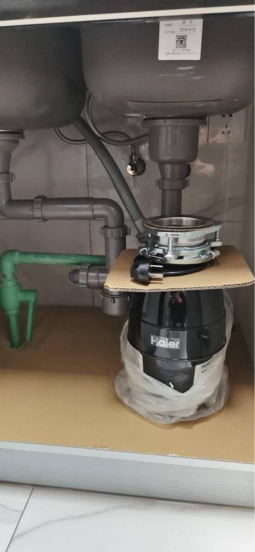 海尔(Haier)垃圾处理器厨余垃圾处理器厨房垃圾处理器家用厨房粉碎机无线开关可接洗碗机LD650-H1
