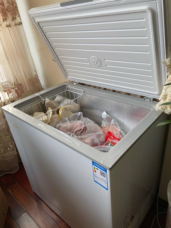 美的(Midea)203升冷藏冷冻转换冰柜家商用大冷柜一级能效节能单温母婴母乳卧式冰箱BD/BC-203KMD(E)