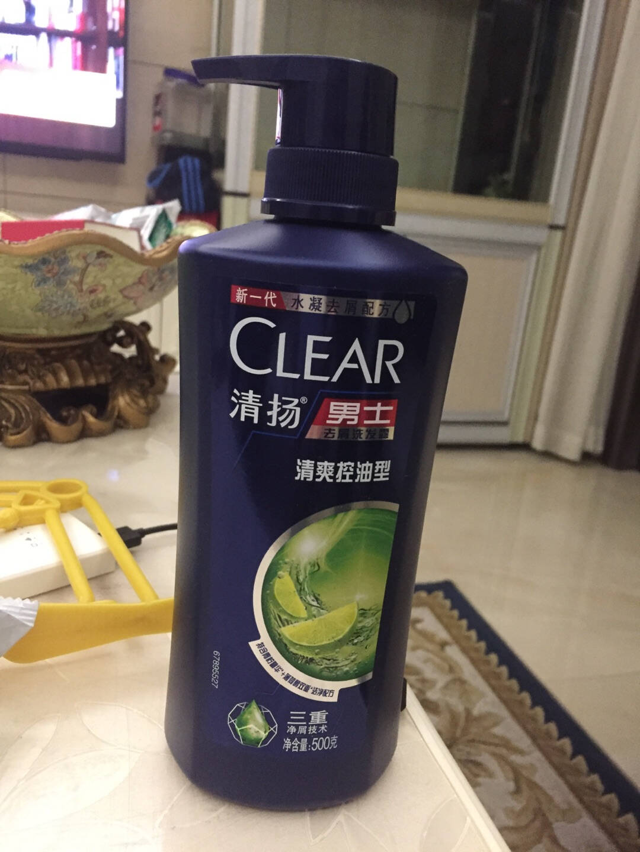 清扬(CLEAR)洗发水男士去屑洗发露活力运动薄荷型500g(新老包装随机发)(氨基酸洗发)