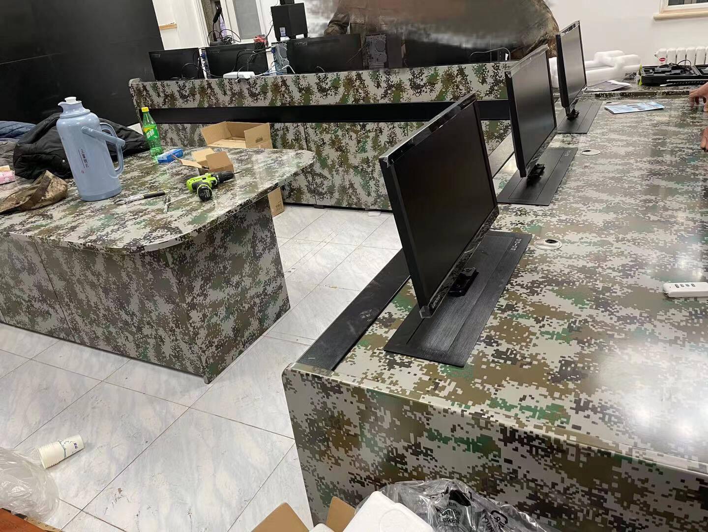 麦森特(Maxcent)多媒体监控制机房操作台指挥调度台工控台中心视频控制监控桌播音桌讲台非标定制