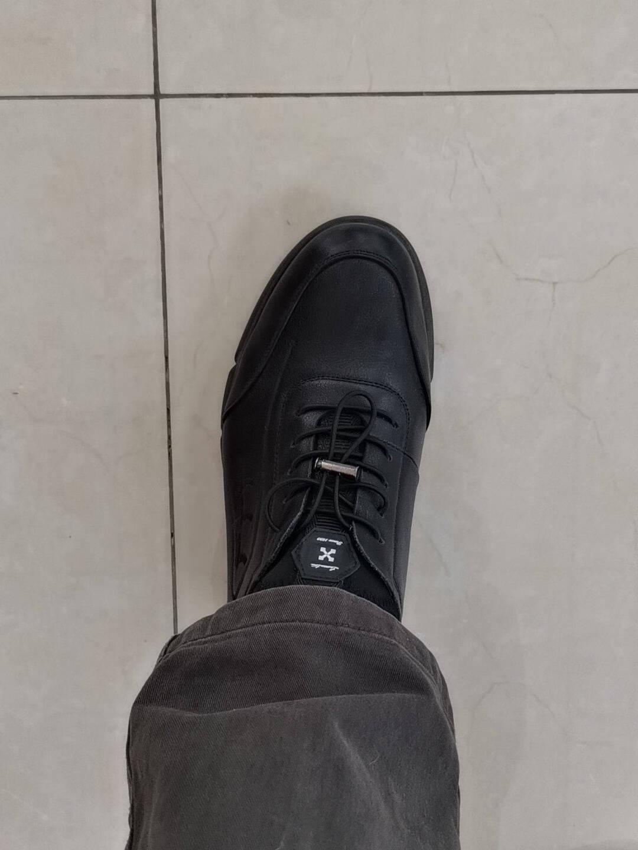 老人头(LAORENTOU)男鞋头层牛皮男单鞋防滑运动鞋男士休闲皮鞋A20111黑色40