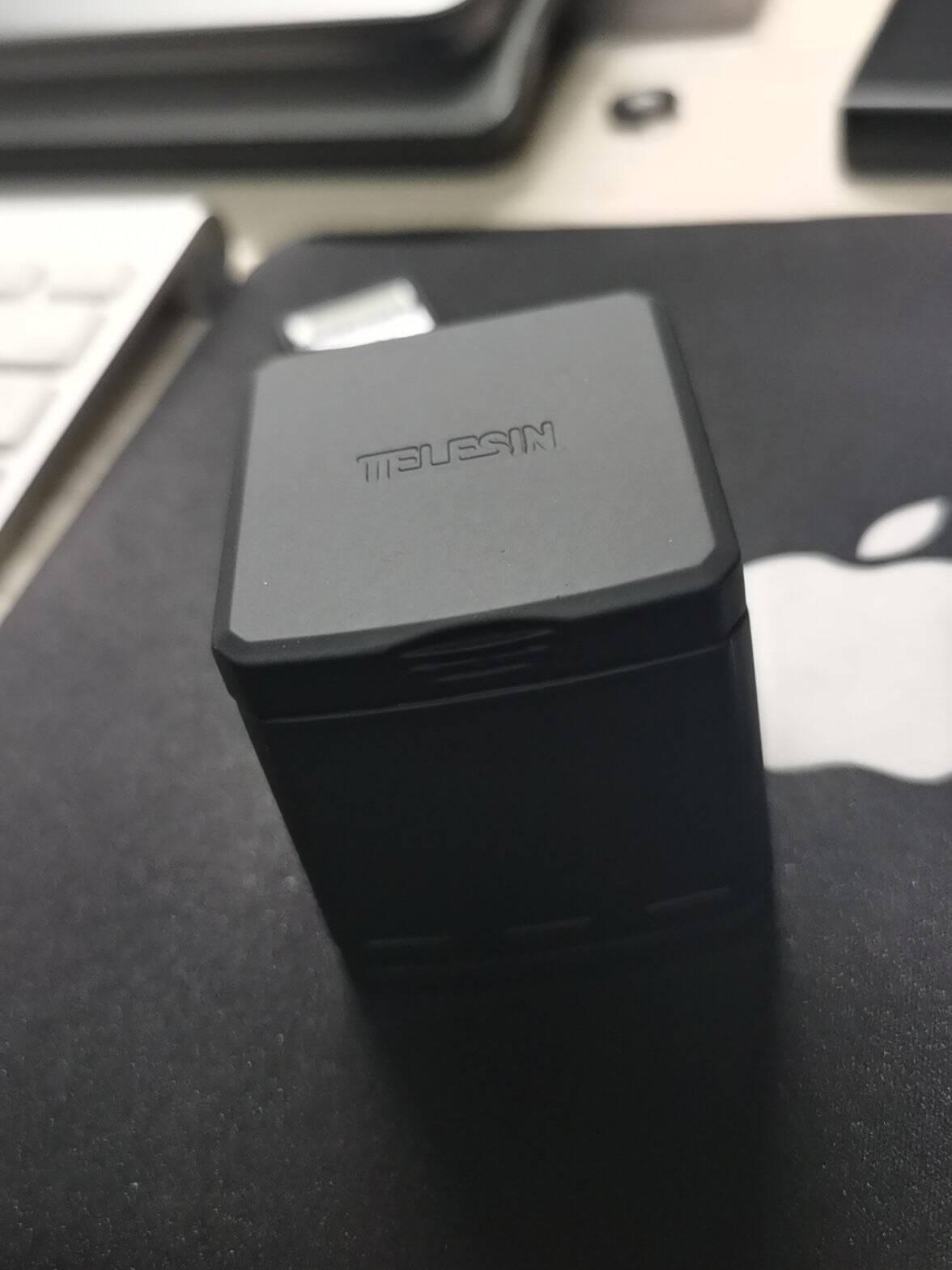 TELESINGopro98电池充电器HERO765配件三充两充多充收纳式充电盒套装【全解码+低温】gopro8收纳式两电一充