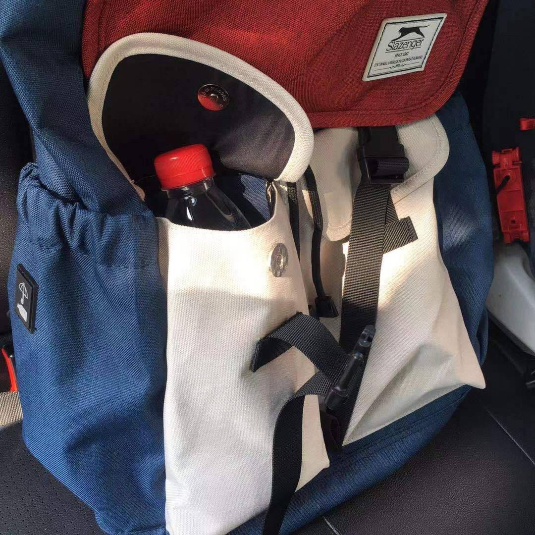英国Slazenger史莱辛格潮流双肩包大容量背包男士旅行包女初高中大学生书包电脑包15.6英寸红盖白袋/青春版