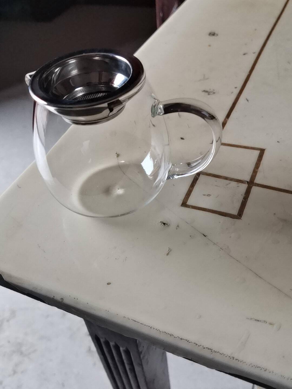 特厚耐热玻璃公道杯茶漏套装大号分茶加厚耐高温茶海功夫茶具配件(加厚)270ML直身公杯
