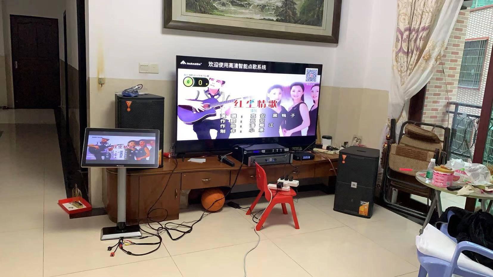 JBLKES6100/6120家庭ktv音响套装音王点歌机一体机家庭影院卡拉OK专业会议全频音箱【4音响】12英寸全套JBL