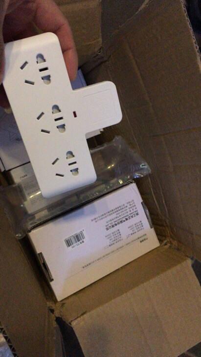 天正电气TENGEN插座魔方无线充电开关多功能家用电源转换器排插/插板/插线板/接线板TC-242-1转4魔方白色