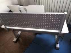 西昊(SIHOO)儿童学习桌小学生书桌儿童书桌实木写字桌椅套装可升降课桌椅H10天空蓝+陪读柜