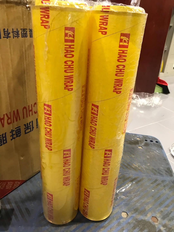 一次性大卷大号家用保鲜膜PVC超市酒店保鲜膜家用厨房食品水果蔬菜透明保鲜膜大卷宽25厘米300米约1.74斤1