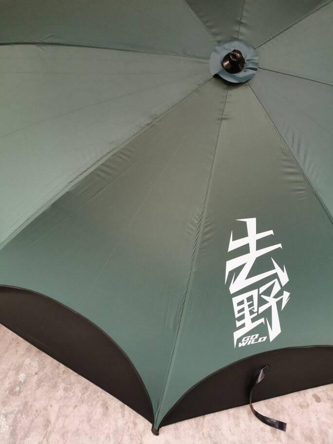 渔之源去野钓鱼伞万向防雨暴雨钓伞2.4大加厚防晒雨伞鱼伞遮阳伞【去野系列延伸防雨】2021新款2.2米-墨绿