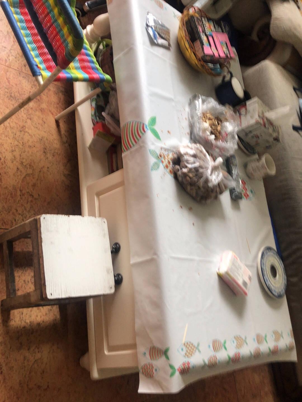 全友家居(超值补贴)茶几美式乡村客厅家具茶几橡胶木边框茶几半开放储物设计121198茶几