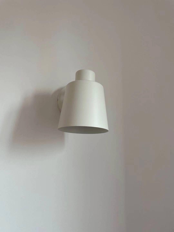 欧普照明墙壁灯客厅灯家用卧室床头灯具楼梯ins北欧风壁灯挂灯BD【悦木生活】白色铁艺灯罩【含E27暖白光灯泡】