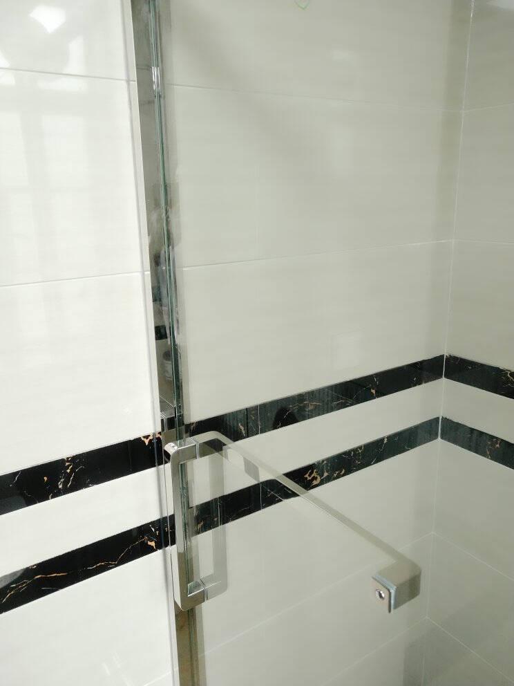 朗司一字型淋浴房整体浴室不锈钢隔断干湿分离钢化玻璃淋雨房厕所洗澡间雅黑不锈钢一平米价格