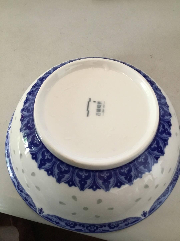 古镇陶瓷(GUZHENTAOCI)景德镇青花瓷厨房家用饭碗汤碗盘碟勺白瓷单个散件组合(清香玉)4.5寸饭碗