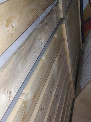 十虎胡桃木实木床简约1.8米双人大床1.5米小户型现代中式储物床A05标准床1800*2000