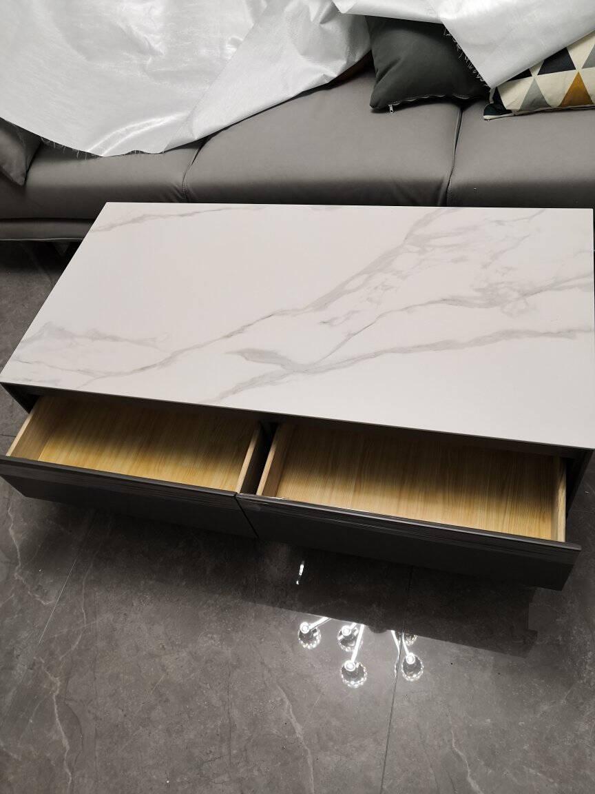 善威新款意式极简岩板电视柜茶几组合轻奢现代风客厅地柜北欧简约【意大利进口岩板】1.8米电视柜组合