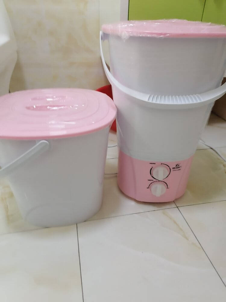 长虹分桶迷你洗衣机小型婴儿内衣内裤洗袜子神器专用折叠清洗机豪华款1+3桶绿色