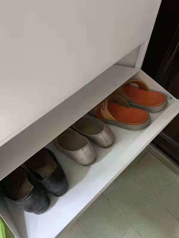 唐辑鞋柜简约现代超薄鞋柜进门厅柜门口鞋柜玄关柜北欧翻斗鞋柜子白色三层508宽