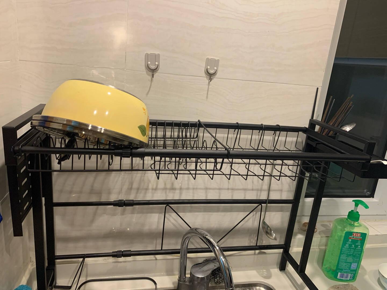 朝暮之家厨房置物架碗架不锈钢水槽置物架可伸缩水池放碗碟架厨具用品收纳架家用碗筷沥水架刀架砧板筷子笼