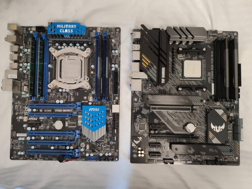 华硕TUFGAMINGB550-PLUS(WI-FI)主板+AMD锐龙5(R5)5800XCPU处理器板U套装CPU主板套装