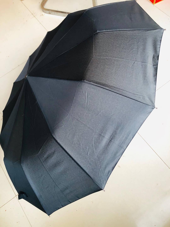暖心话12骨全自动雨伞男士商务折叠伞大号男女双人三折自动伞开收晴雨伞两用太阳伞遮阳伞12骨升级款大伞-尊贵黑